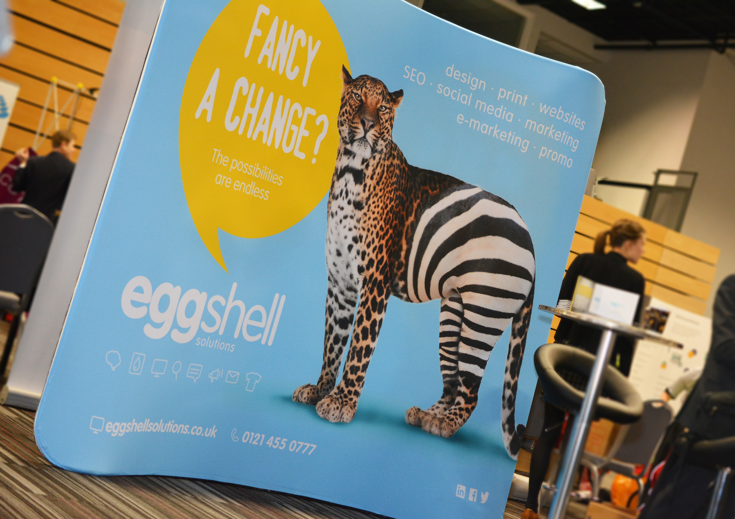 Fabric Exhibition Stand Zone : Steal the show with a fabric display eggshell solutions